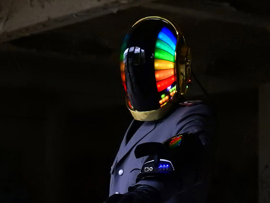 LoveProps Daft Punk Helmet Casco Manuel DIY rainbow guy